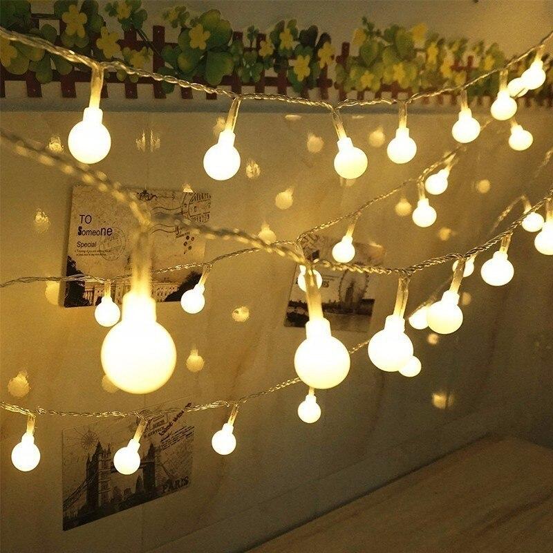 10M Ball Fairy Light String 100 LED Garlands Twinkle Lights EU/US Plug Christmas LED Bulb Lamp Celebration Holiday Party Wedding все цены