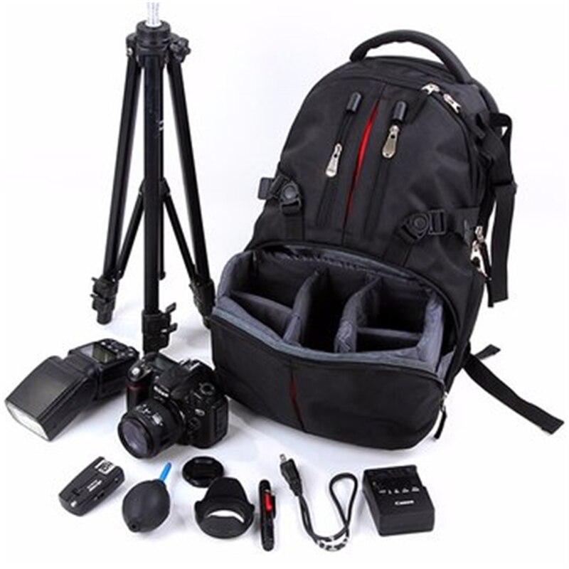 2016 Fashion Nylon Waterproof Shockproof Camera Laptop Travel Bag Lens Case Backpack For Canon Nikon SLR DSLR Camera T-001