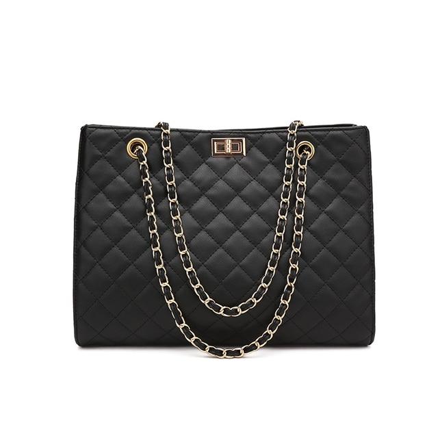 2019 new Pu Leather Bag Simple Handbags Famous Brands Women Shoulder Bag Big  Trunk Tote Vintage Ladies Crossbody Bags ac65dfd1f99e2