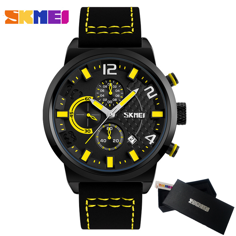 Luxury Brand Men Watch SKMEI Chronograph Sports Watches Men's Quartz Hour Date Clock Army Military Waterproof Men Wrist Watch weide new men quartz casual watch army military sports watch waterproof back light men watches alarm clock multiple time zone