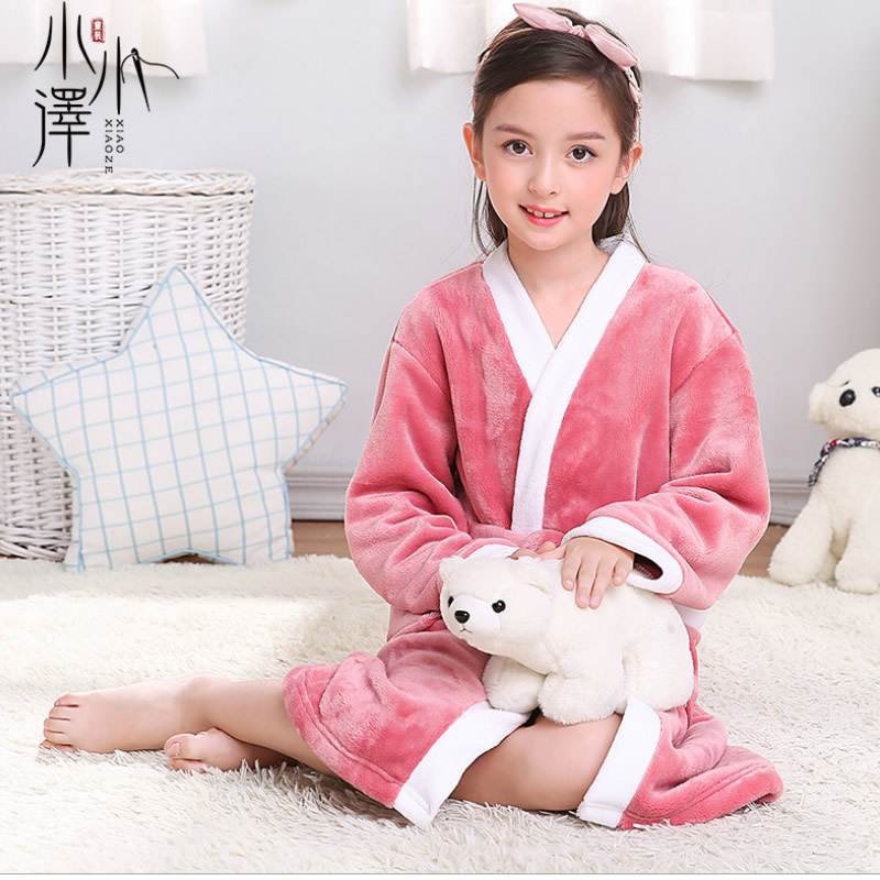 20aa53892d221 Children s Robes Kids Pajamas Clothes Child Boys Fleece Warm Bathrobes  Girls Nightgowns Clothing Set Cartoon Sleepwear
