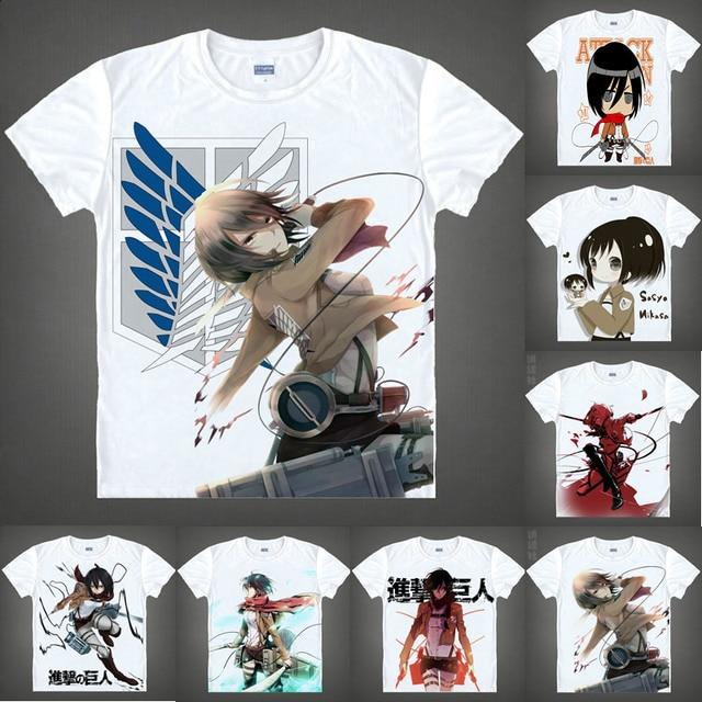 coolprint anime shirt attack on titan t shirts multi style short
