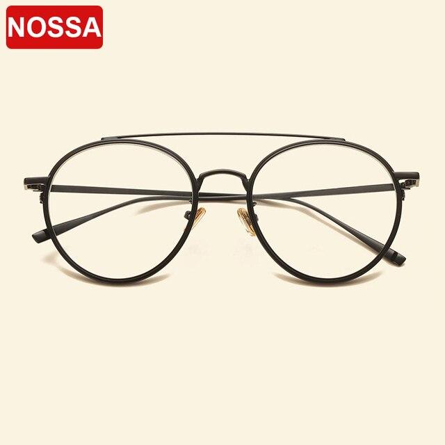 08fd1621306 Big Frame Retro Metal Glasses Frames Men Women Myopia Optical Frame Clear  Lens Casual Spectacles Student