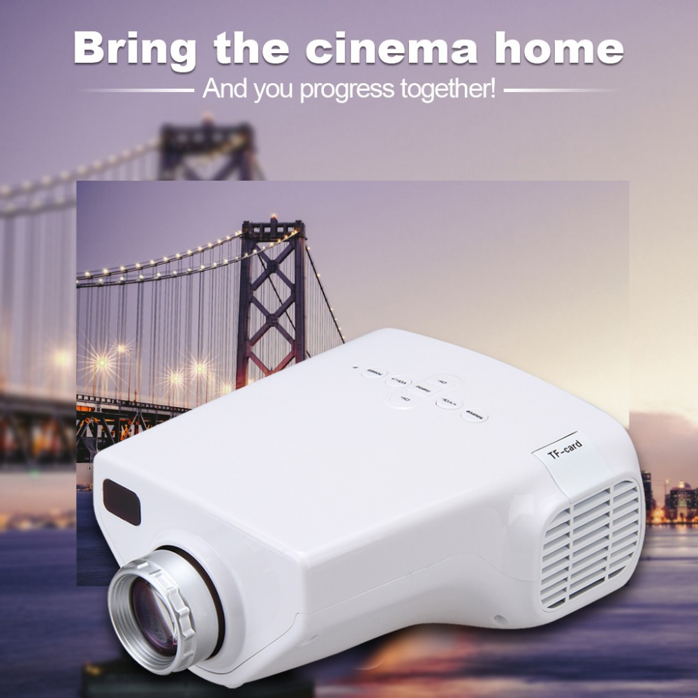 DBPOWER Portable E03 MINI Home Theater LED LCD Projector 50 Lumens USB VGA HDMI 1080P HDTV Better than UC40 Proyector