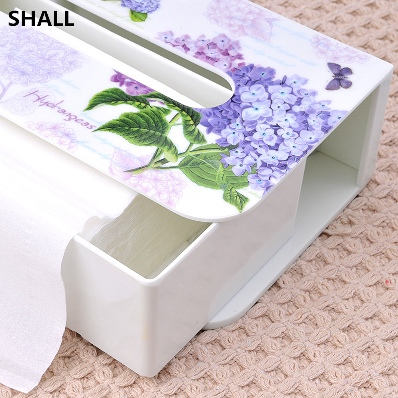 SHALL Luxury Creative European Melamine Drawer Type Home Car Tissue Case Box Sanitary Accessories Napkin Paper Holder Box