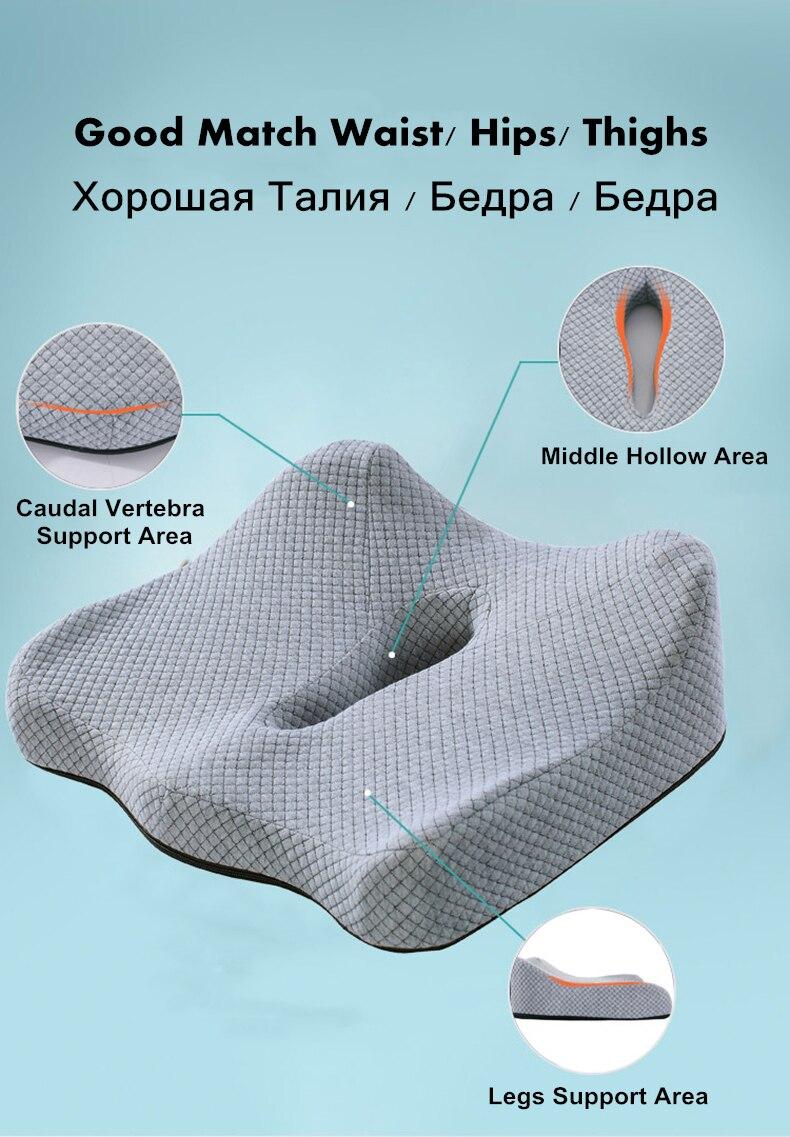 HTB1cjZvQrvpK1RjSZFqq6AXUVXav PurenLatex 45*40 Orthopedic Coccyx Memory Foam Chair Car Seat Cushion Pillow Pad Wheelchair Mats For Postpartum Hemorrhoid Treat