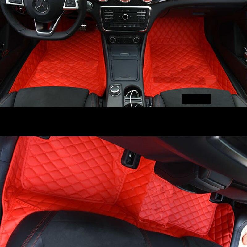lsrtw2017 fiber leather car floor mat for mercedes benz A180 A200 A260 A45 AMG 2013 2014 2015 2016 2017 2018 W176 car trunk mat free shipping fiber leather car floor mat rug for volkswagen touareg 2nd generation 2011 2012 2013 2014 2015 2016 2017