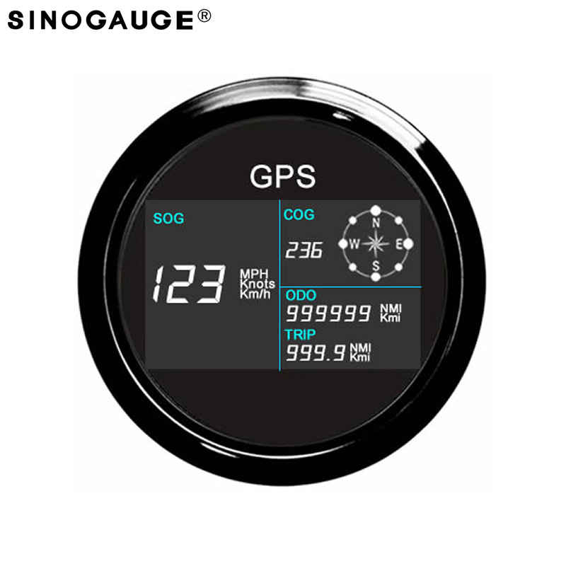 Free Shipping! 85mm Universal GPS Speedometer 0~299 MPH, Knots, Km/h Motorcycle Boat Trucks Black White Silver with GPS Antenna каталог ander