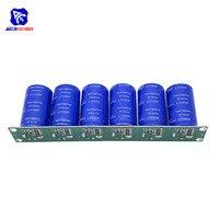 6PCS/Set 2.7V 500F Flag Angle Electrolytic Capacitor with Protection Board Single Row 16V 83F Super Farad Capacitor for Car