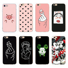 For iPhone 6 6S iPhone 7 8 Plus Ultra Thin Cases for iPhone X XS Max Cute Pink Pig TPU Phone Cases For iPhone 5S 5 SE Fundas cheap Fitted Case Dirt-resistant Apple iPhones iphone xs IPHONE 6S iPhone 7 Plus iPhone SE IPHONE 8 iPhone 6 Plus IPHONE 8 PLUS