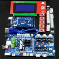 New Arrival RAMPS 1 57 Control Board LCD 2004 Board Mega 2560 R3 A4988 Driver Kit