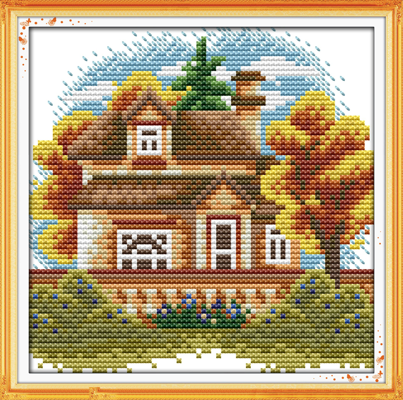 7868cbd88c418 ΞCountry s life style (2) scenery home decor Cross Stitch kits DMC ...