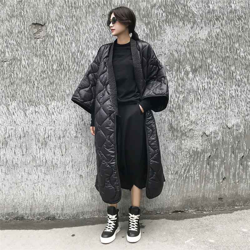 Winter Jacket Women 2019 New kimono Design Autumn Winter Women Jacket Woman   Parkas   Outerwear Female Coat Oversized X195