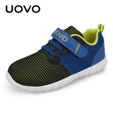 UOVO 2018 последние детская обувь мальчиков дышащая весна осень обувь для девочек легкие подошвы детская обувь гибкая обувь