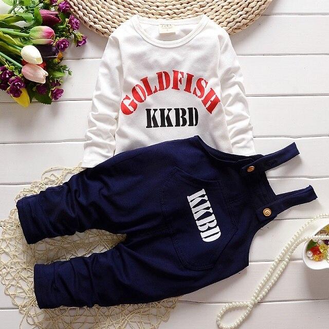 Hot sale little boys autumn t shirt pants clothing sets fashion baby boy letter t shirt