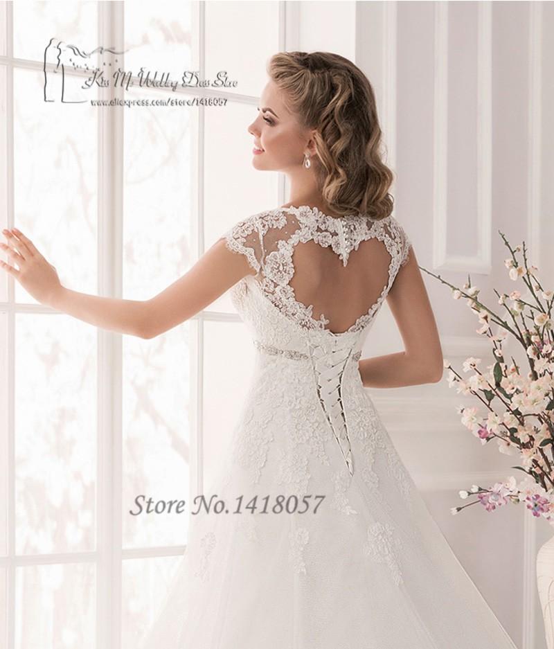 e9d49b7d5930b US $129.6 20% OFF|Vestido de Noiva Plus Size White Maternity Wedding  Dresses Lace Empire Bridal Dress Gowns Cap Sleeve Corset Back Belt  Brautkleid-in ...