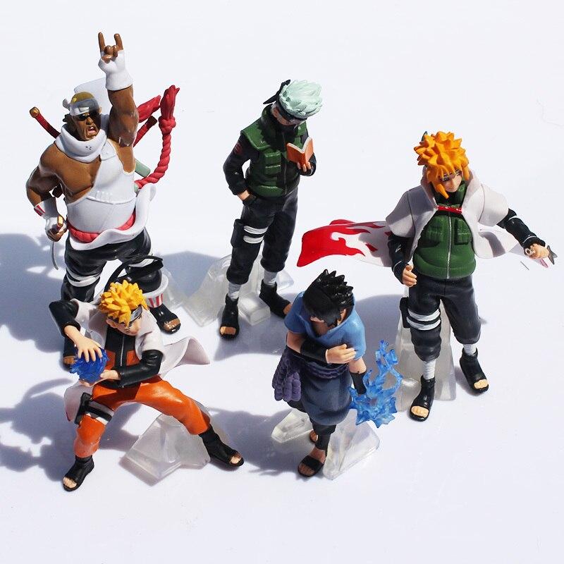 Free Shipping Naruto 1set 10 15cm Naruto Shippuden Sasuke Uzumaki Kakashi Doll Dolls Full 5pcs Premium