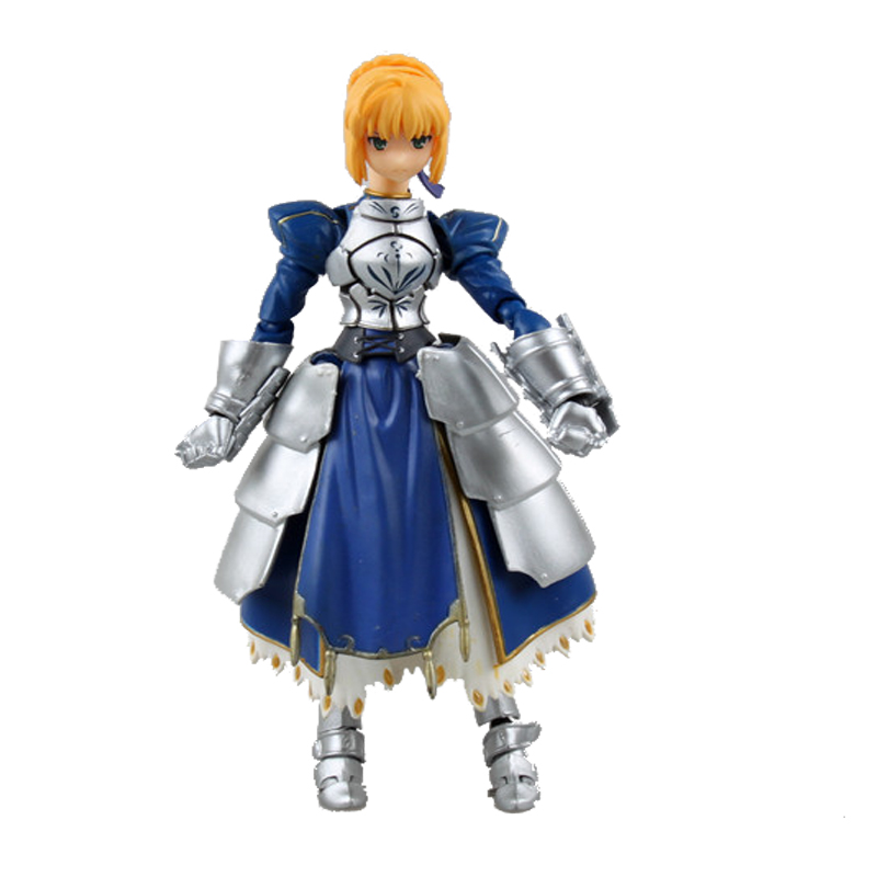 Anime Fate stay Night Saber Figma #227 PVC Action Figure Collectible Model Toys 14cm KT3546 anime cardcaptor sakura figma kinomoto sakura pvc action figure collectible model toy doll 27cm no box