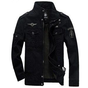 Image 4 - 2020 Military Jacket Men Jeans Casual Cotton Coat Plus Size 6XL Army Bomber Tactical Flight Jacket Autumn Winter Cargo Jackets