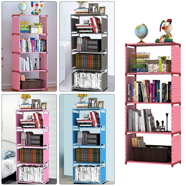 2018 New Creative DIY 5 Layers Bookcase Portfolio Brief Modern Bookshelf Shelf Whatnot Cabinet Thickening Freeshipping