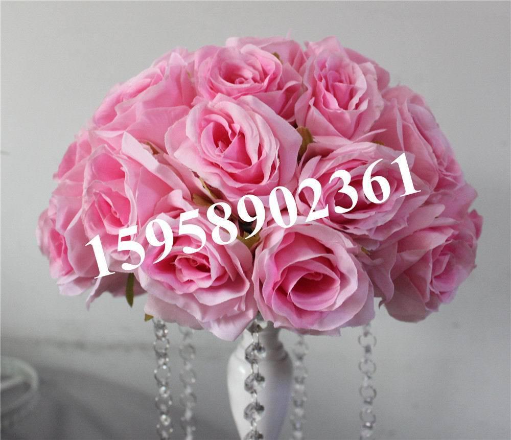 20cm 10pcs / lot - 새 도착 실크 키스 웨딩 파티 장식을위한 장미 꽃 공 여러 가지 색상 사용 가능