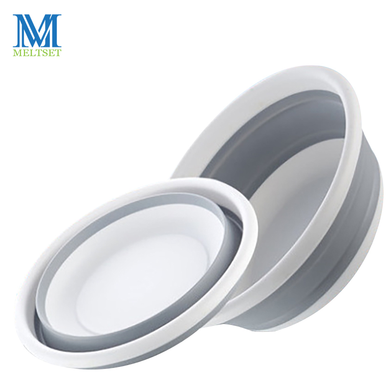 Large Size Portable Plastic Basin for Wash Car Clothes Vegetable Washing Folding Basins Home Kitchen Bath Foot Fold Basin Bucket