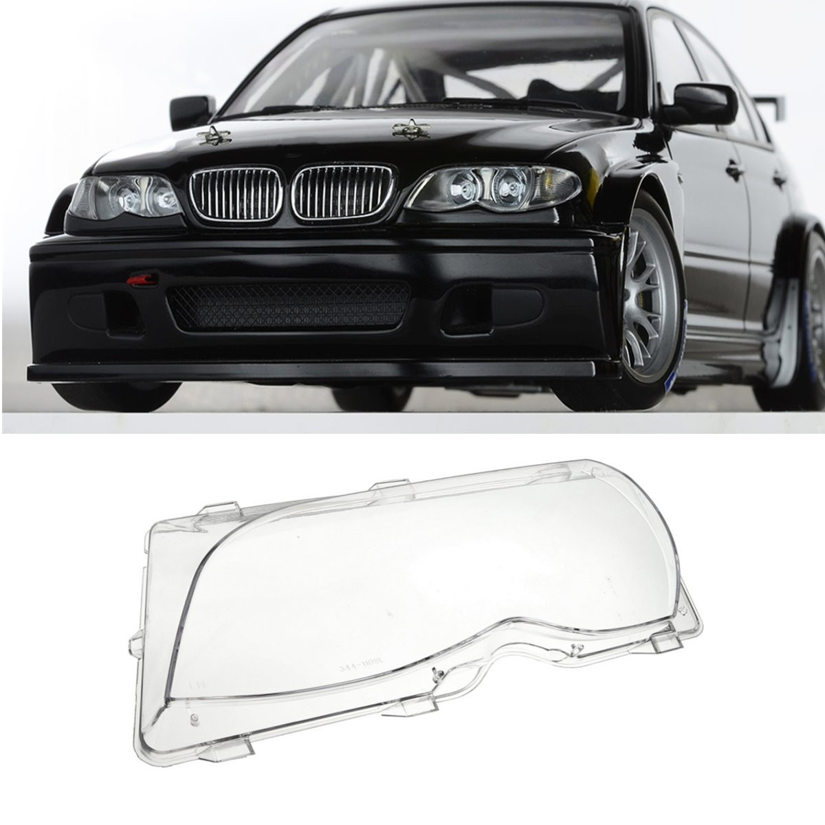 1Pcs Left/Right Driver Side Headlight Lens Plastic Shell Cover For BMW E46 3-Series 4DR 2001 2002 2003 2004 2005 63126924045 headlight clear lens cover 2 pcs front headlamp plastic shell for bmw e46 2 door 1999 2002 left
