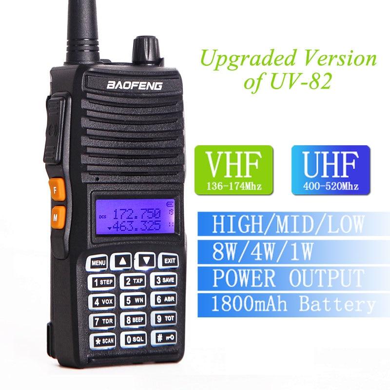 Baofeng UV-82 8 Watt High Power Leistungsstarke Walkie Talkie 10 km long range Two Way Radio cb radio Transceiver (verbesserte von BF UV82)