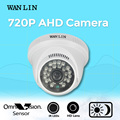WANLIN 1.0MP CCTV 720 P AHD Câmera de Segurança Mini Indoor Dome Branco 24 Pcs LED 20 Metro de Vídeo de Visão Noturna câmera de vigilância