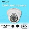 WANLIN 1.0MP Mini Cámara de Interior de Seguridad CCTV 720 P AHD Cúpula Blanca 24 Unids LED 20 Metro de Video de Visión Nocturna cámara de vigilancia