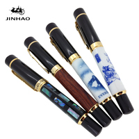 Collectibles Jinhao Fountain Pen Black With Multicolor Real Big And Heavy Gift Pen