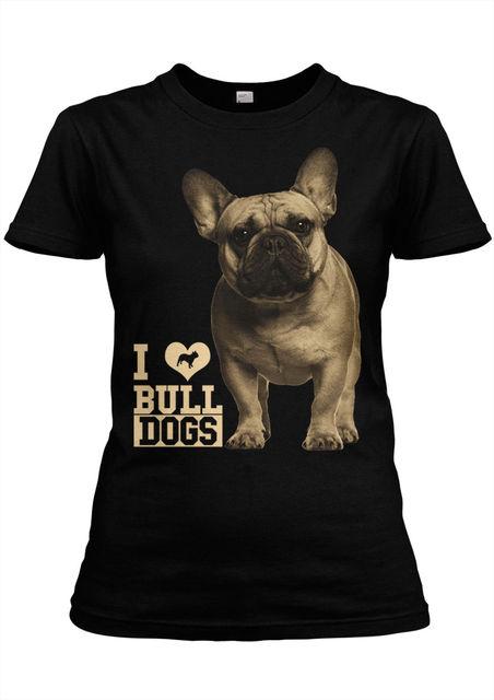 Fashion Summer Short Sleeve Tee Shirt Franzosische Bulldogge 4 Girlie  schwarz-hund,Dog, 5b7654e725