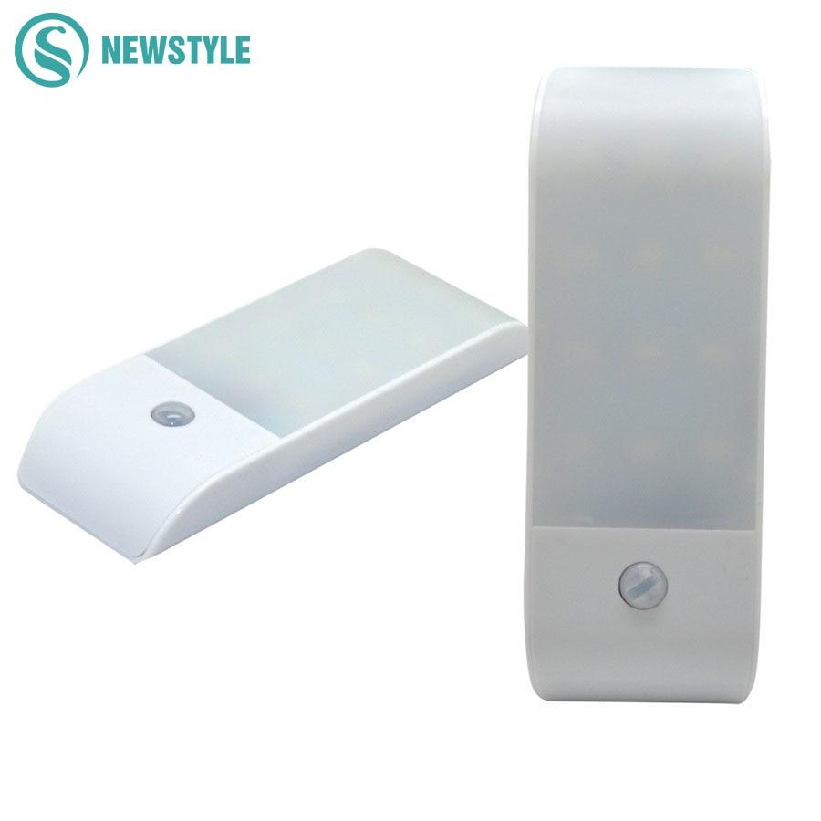Mini 12led LED Night Light Lamp Rechargeable LED Sensor light 2 Modes Lighting Effect Corridor Bathroom Wardrobe Emergency Lamps