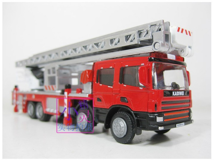 sale 1pc 1:50 16.5cm Cadeve engineering scaling ladder fire engine truck model alloy car home decoration children gift toy - Timmy's store