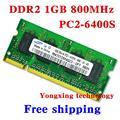 Пожизненная гарантия для samsung DDR2 1 ГБ 800 мГц PC2-6400S DDR 2 1 г портативный ноутбук памяти RAM 200PIN SODIMM бесплатная доставка