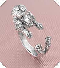 Регулируемое кольцо хиппи мультфильм с пуделем свободного размера