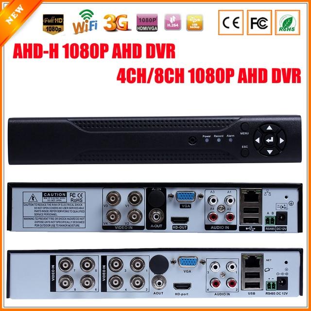 Новое поступление 1080 P AHD-H 4 канала ахд DVR рекордер видеорегистратор 8 канал ахд DVR 1080 P AHDH для 1080 P ахд камеры