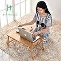 Transday bambu dobrável notebook mesa do computador na cama com uma pequena mesa mesa mesa preguiçoso simples dormitório