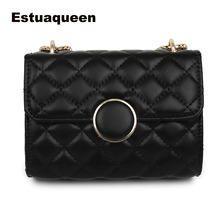 все цены на New Fashion Women Messenger Bag PU Leather Girls Chain Shoulder Tote Solid Cute Fashion White Party Handbag Crossbody Bag Wallet онлайн