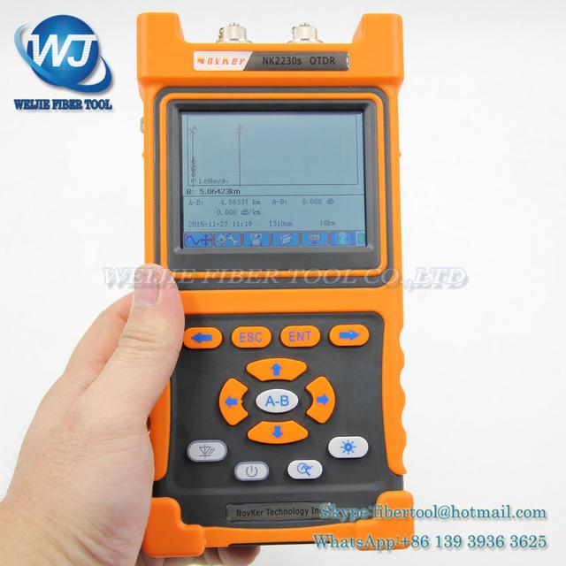 2016 Últimas NK2230S OTDR reflectómetro de dominio de tiempo óptico OTDR de fibra óptica fiber fault detector tester 30dB 0-90 KM
