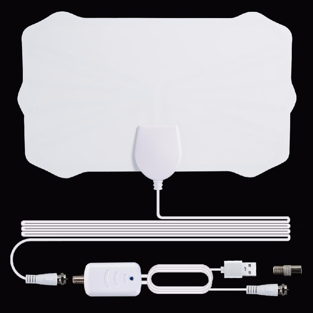 Indoor 200 Mile TV Antenna Freeview 25DB Digital HDTV Antenna With Amplifier Booster Radius Fox DVB-T2 TV Signal Receiver Aerial