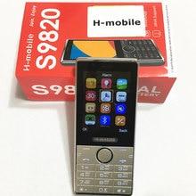 S9820 dual SIM двойной резервный мобильный телефон 2.8 дюймов экран сотовый телефон Русская клавиатура телефон H-mobile S9820