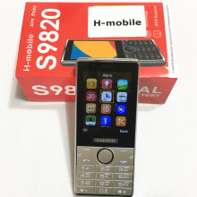 S9820 doppelsim doppeleinsatzbereitschaft handy 2,8 zoll bildschirm handy Russische tastatur telefon H-mobile S9820