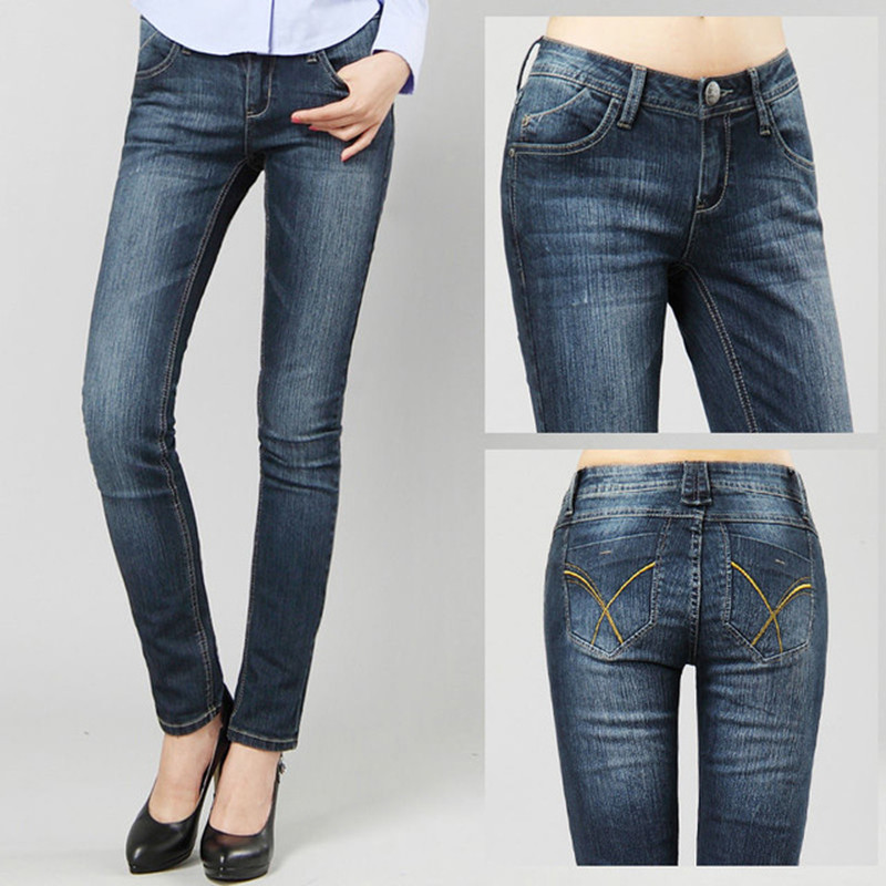 New High Quality Vintage 78% Cotton Jeans for Women Denim Pencil Jeans Woman High Elastic plus size High Waist Cowboy Pants