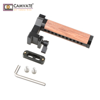 CAMVATE QR Wooden Top Handle With NATO Rail And Cold Shoe C1846 camera photography accessories