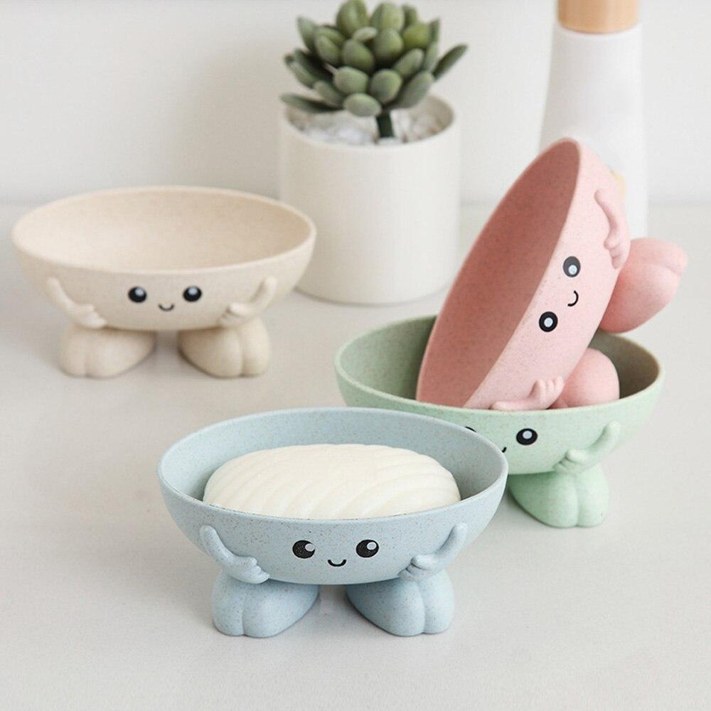 New Cute Cartoon Soap Box Home Waterproof Soap Holder Bathroom Shower Case Dish Bathroom Tray Accessories Boxes