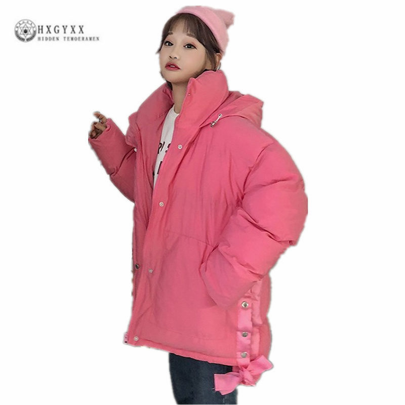 Dames Capuche Unie Black Femmes yellow Pain Coréenne pink white D'hiver Étudiants Service Nouvelle Épaississement Mode green Couleur Manteau Coton De G0227 Parkas À Version rrH76q4