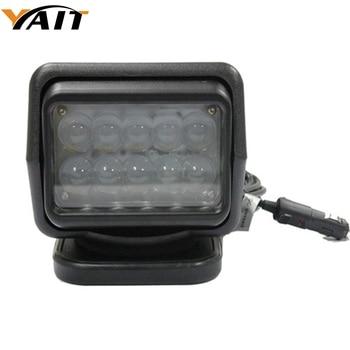 Yait Remote control LED Searchlight 12v 7inch 50W Spotlight LED Work Light TRUCK SUV BOAT MARINE driving light IP67 10-30V