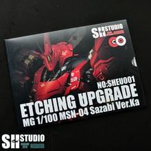 SH סטודיו 1/100 MG SAZABI Ver. ka קאשה Sharjah Gundam מיוחד מתכת תחריט גיליון פעולה איור דגם פירוט שינוי תיקון