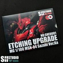 SH STUDIO 1/100 MG SAZABI Ver. ka Kasha Sharjah Gundam Spezielle Metall Ätzen Blatt Action Figur Modell Detail Änderung Reparatur